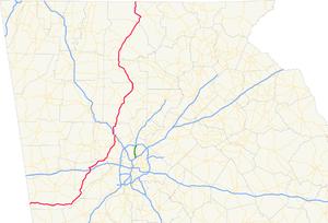 Georgia State Route 5 - Image: Georgia state route 5 map