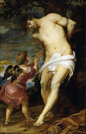 Gerard Seghers - Saint Sebastian comforted by an angel