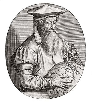 Old University of Leuven - Gerardus Mercator, the celebrated mapmaker.