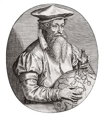 Gerardus Mercator(1512-1594), the celebrated mapmaker, active in the Protestant movements he was arrested by the Inquisition at the same time as a group of citizens of Louvain. He fled to Germany to Duisburg where he became famous for his production of maps. Gerardus Mercator.jpg