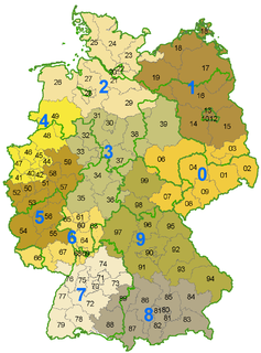 Postal codes in Germany Overview of postal codes in Germany