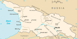 Georgia - Mappa