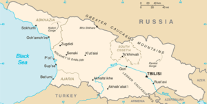 Map of Georgia (geopolitical)