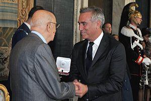 Massimo Ghini - Ghini with Giorgio Napolitano