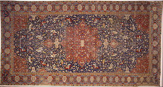 Persian carpet - Hunting Carpet made by Ghyath ud-Din Jami, Wool, cotton and silk, 1542-3, Museo Poldi Pezzoli, Milan