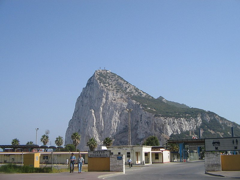 File:Gibraltar Rock and border crossing, 2005.jpg