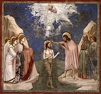 Giotto di Bondone - No. 23 Scenes from the Life of Christ - 7. Baptism of Christ - WGA09201.jpg