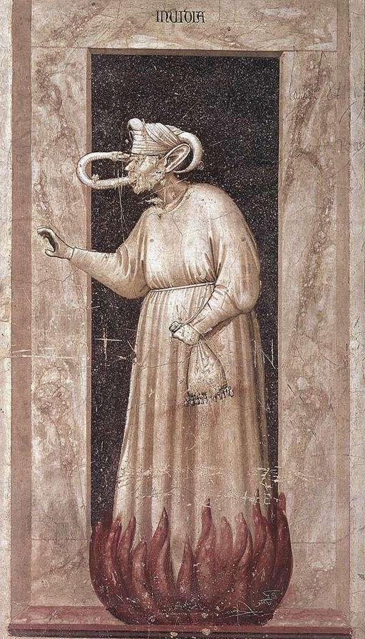Giotto di Bondone - No. 48 The Seven Vices - Envy - WGA09275