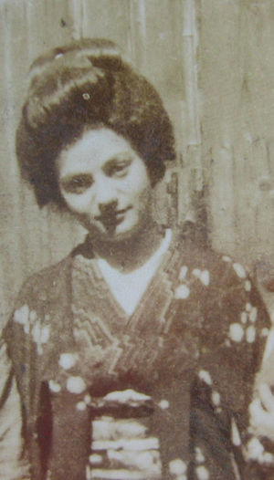 Giuliana Stramigioli - During her first stay in Japan,(possibly Kyōto) 1937