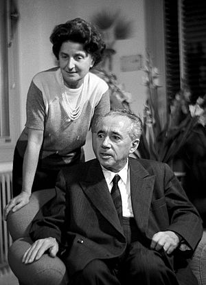 Giulio Natta - Giulio Natta with wife in the 1960s