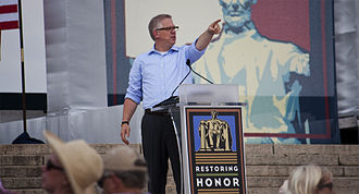 Restoring Honor rally - Glenn Beck speaking to the crowd during the rally