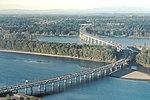 Glenn L. Jackson Memorial Bridge aerial view from southeast 2015-10-20.jpg