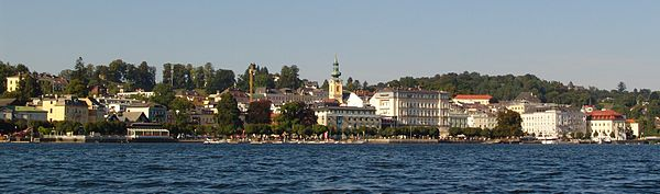 Panorama of Gmunden, seen from the Traunsee