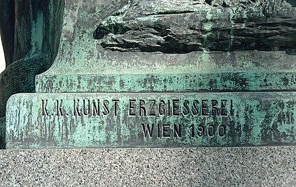 Goethe monument, Vienna - Gießerei.jpg