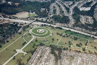 Golden Gate National Cemetery - Aerial photograph of Golden Gate National Cemetery