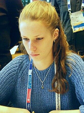 Valentina Golubenko - Valentina Golubenko at the 38th Chess Olympiad in Dresden, 2008