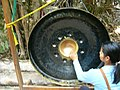 Gong and buddhist woman.JPG