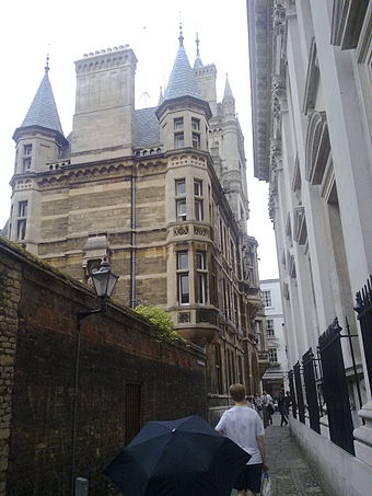 College from adjoining Senate House Passage GonvilleandCaius from Trinity Lane.jpg