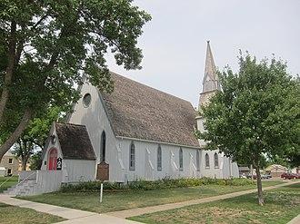 National Register of Historic Places listings in Faribault County, Minnesota - Image: Good Shepherd Church Blue Earth Minnesota