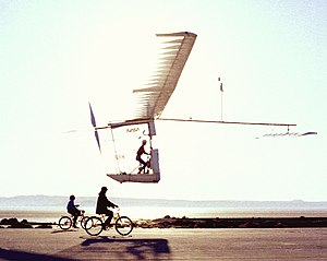 MacCready Gossamer Albatross - The Gossamer Albatross II at Dryden Flight Research Center in 1980