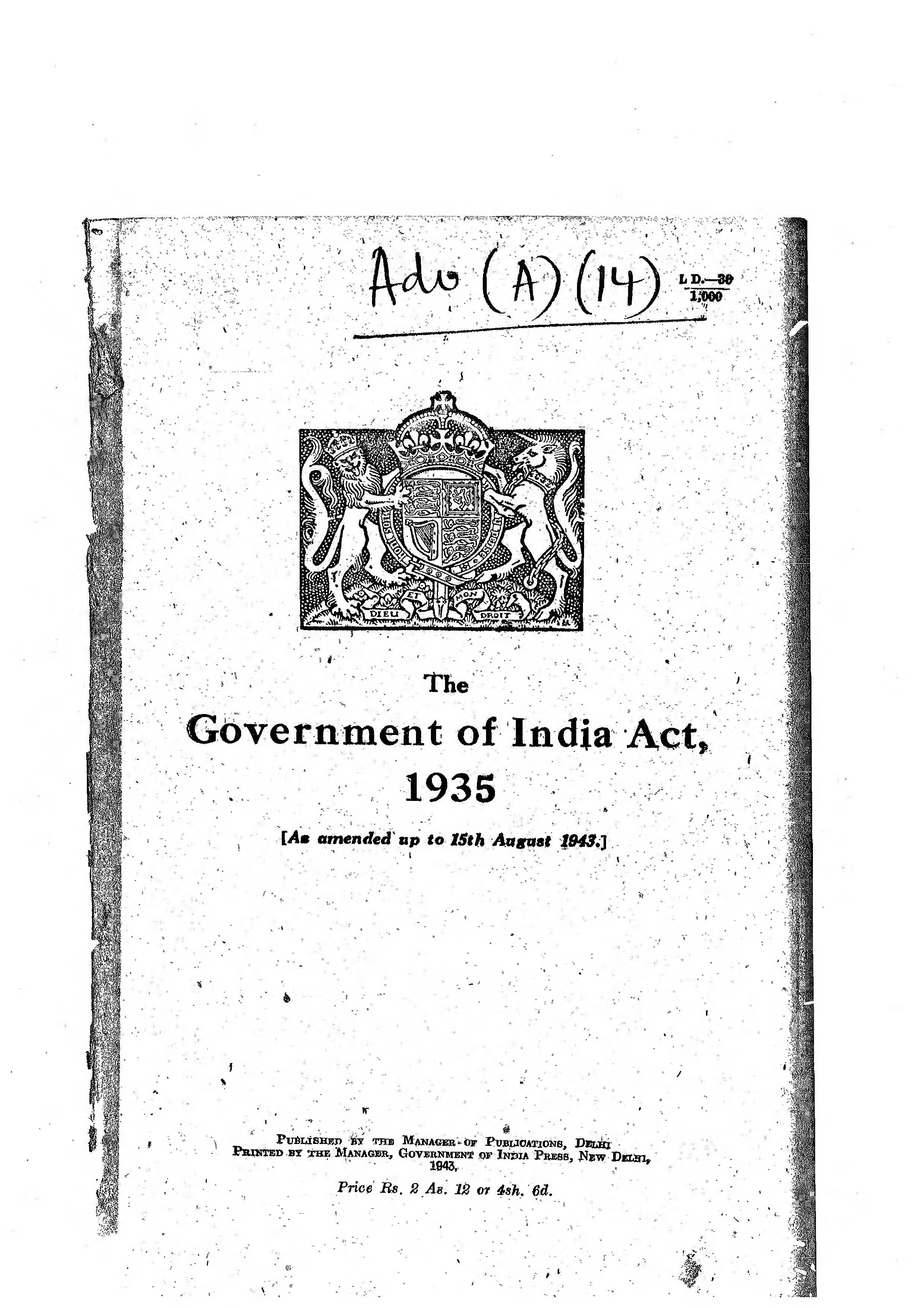 government of india 1935