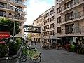 Gozsdu-yard. 'C' yard. Solar powered bicycle storage. MOL Bubi cycles. Glass bridge. Monument ID 840 - Budapest 7th district. Király St. 13 & Dob St. 16.JPG
