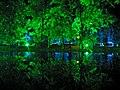 Grün-Blau illuminierte Bäume bei Nacht (Weimarhallenpark) - panoramio.jpg