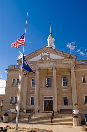 The Grant County historic courthouse in Williamstown