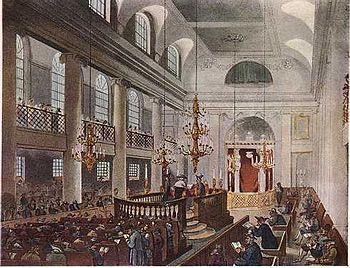 The Great Synagogue of London: This engraving ...