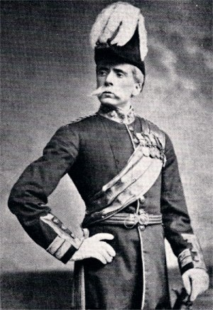 The Pirates of Penzance - George Grossmith as General Stanley, wearing Wolseley's trademark moustache