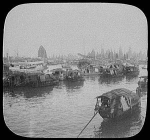 History of Chinese Americans - Image: Guangzhou Harbor