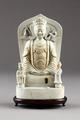 Guanyin barmhärtighetens gudinna gjord i Kina av porslin på 1800-talet - Hallwylska museet - 95545.tif