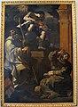 Guercino, santi francesco e benedetto ascoltano un angelo musicante.JPG