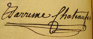 Guillaume de Barrême de Châteaufort - His signature
