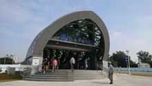 Gushan railway station entrance 2018.png