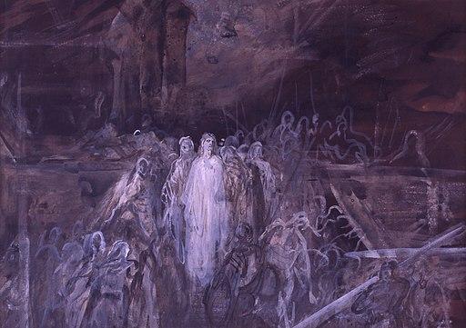 Gustave Doré, Le Christ quittant le prétoire ( papier )