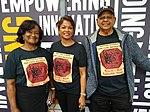 Guyana Philatelic Society members with British Guiana 1c magenta t-shirts (3).jpg