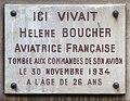Hélène Boucher plaque - 169 rue de Rennes, Paris 14.jpg