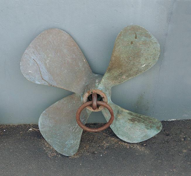 Ship propeller, Île aux Moines, Morbihan, France