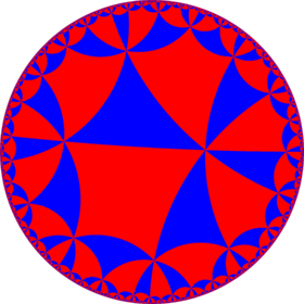 Alternated order-4 hexagonal tiling