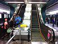 HK Jordan MTR Station morning am escalators visitors Jan-2014.JPG