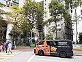 HK SW 上環 Sheung Wan 皇后大道西 Queen's Road West 帝后華庭 Queen's Terrace 皇后街 Queen Street motor van April 2020 SS2 01.jpg