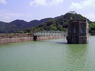 Shing Mun Reservoir - Valve Tower and Steel Bridge
