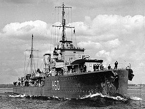 C and D-class destroyer - HMCS Ottawa about 1942–43