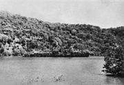 HRMS Abraham Crijnssen disguised as a tropical island