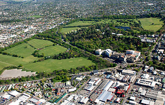 Hagley Park, Christchurch - Image: Hagley Park Aerial Photo