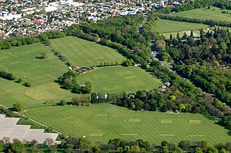 Hagley Oval - Image: Hagley Oval 2007 from Hagley Park Aerial Photo