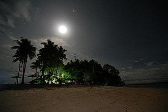 Bislig - Hagonoy Island during night time