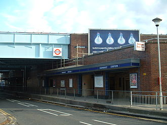 Hainault tube station - Station entrance on New North Road