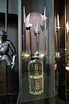 Halberds and ancient shield (29282100056).jpg